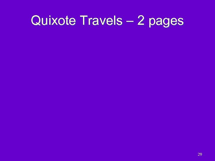 Quixote Travels – 2 pages 29