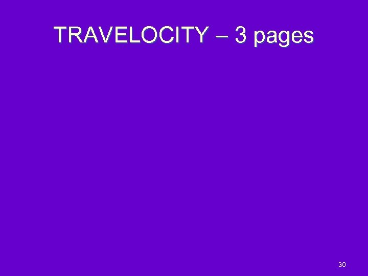 TRAVELOCITY – 3 pages 30