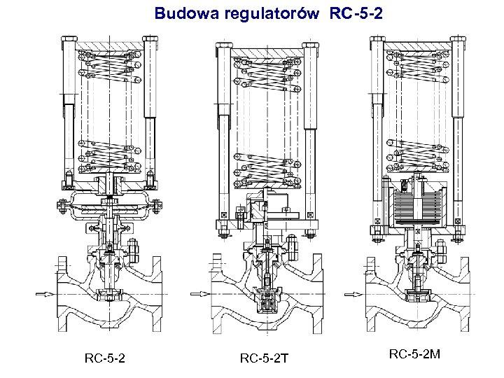 Budowa regulatorów RC-5 -2 T RC-5 -2 M