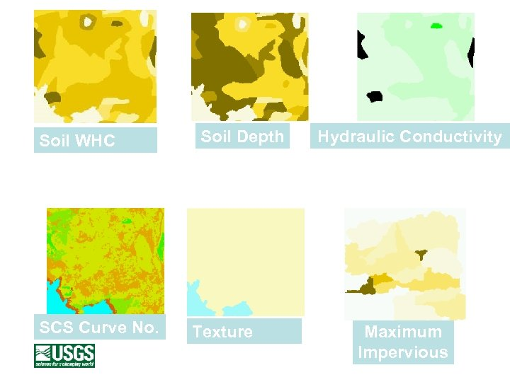 Soil Depth Soil WHC Hydraulic Conductivity Soil and Land Cover Data SCS Curve No.