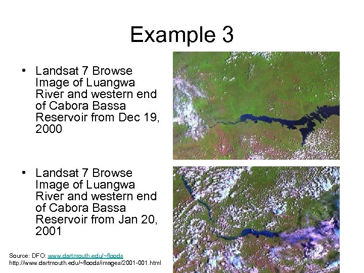 Example 3 • Landsat 7 Browse Image of Luangwa River and western end of