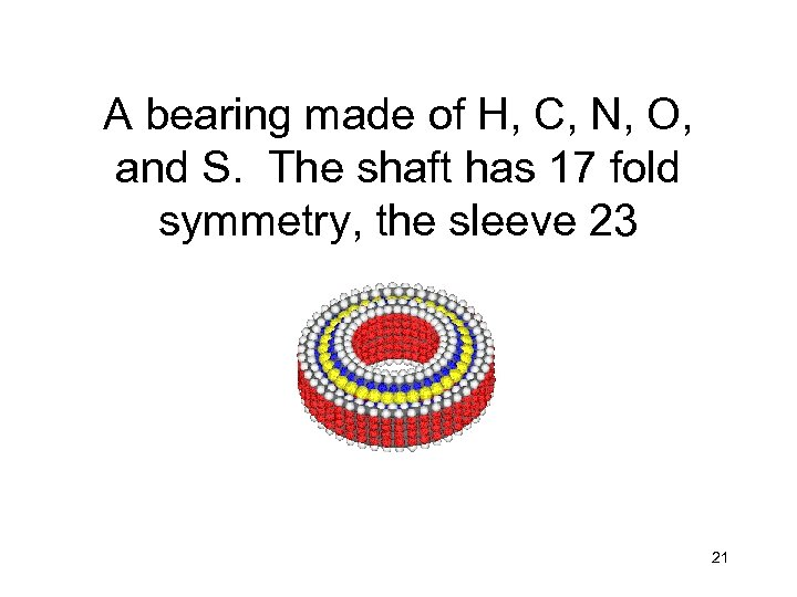A bearing made of H, C, N, O, and S. The shaft has 17