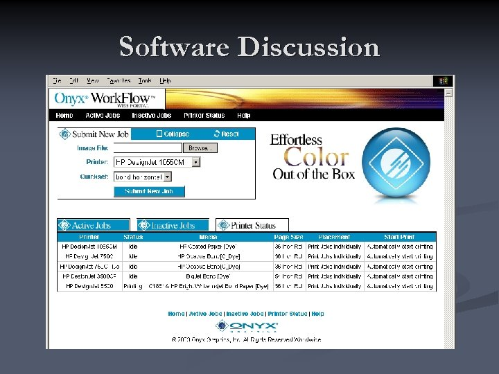 Software Discussion