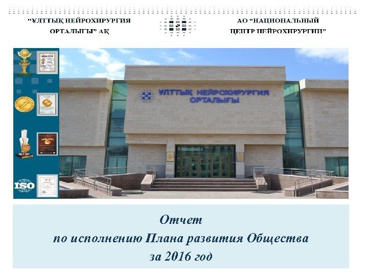 Отчет по исполнению Плана развития Общества за 2016 год