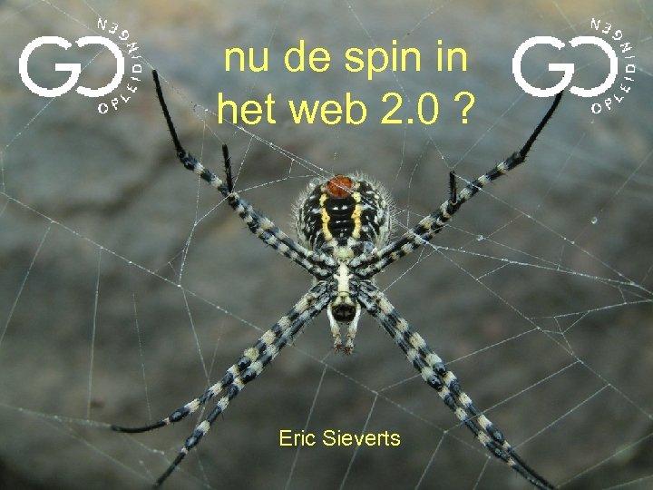 nu de spin in het web 2. 0 ? Eric Sieverts