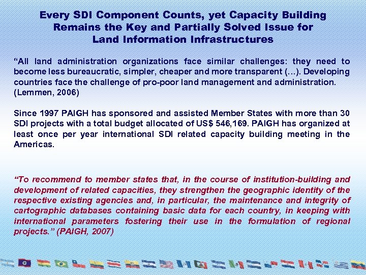 Every SDI Component Counts, yet Capacity Building Remains the Key and Partially Solved Issue