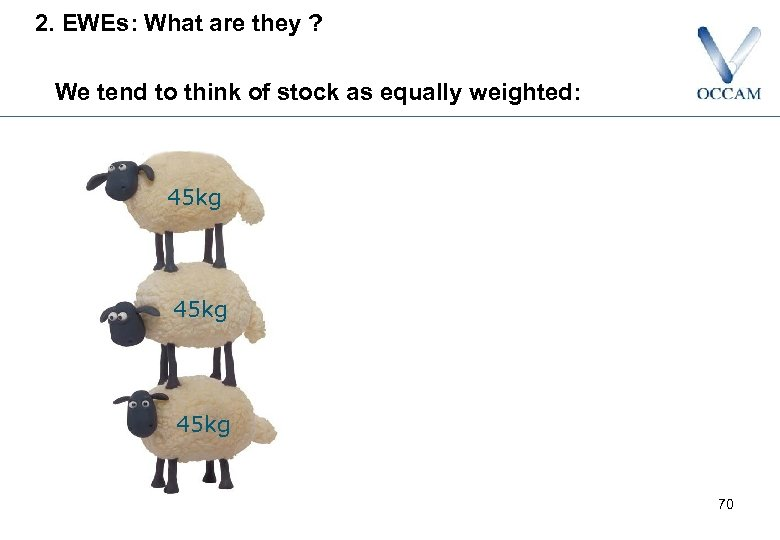 2. EWEs: What are they ? We tend to think of stock as equally