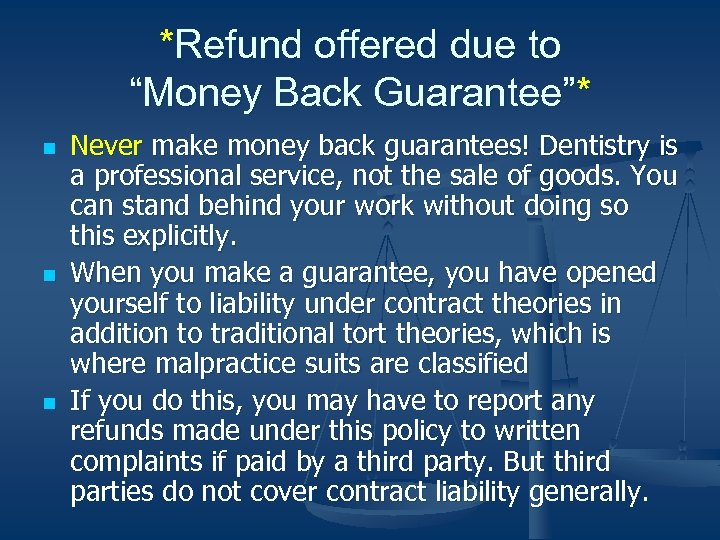 """*Refund offered due to """"Money Back Guarantee""""* n n n Never make money back"""