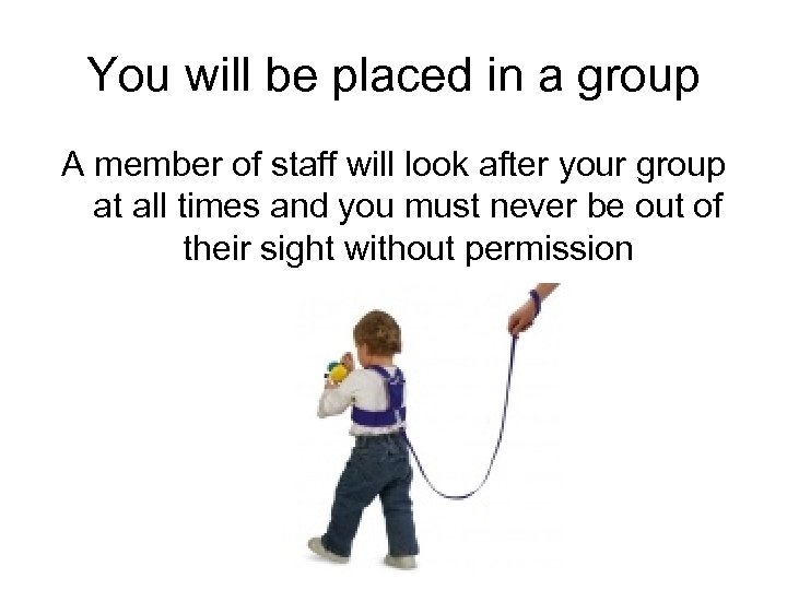 You will be placed in a group A member of staff will look after