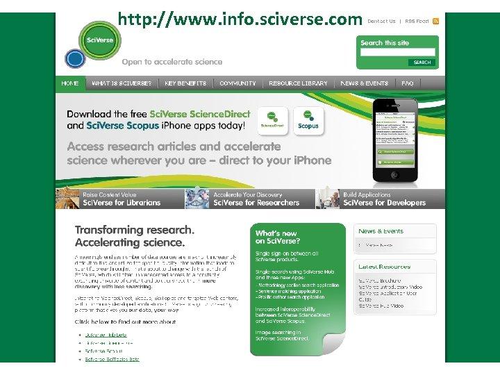 http: //www. info. sciverse. com