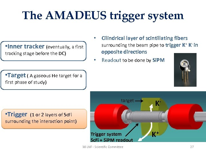 The AMADEUS trigger system • Inner tracker (eventually, a first tracking stage before the