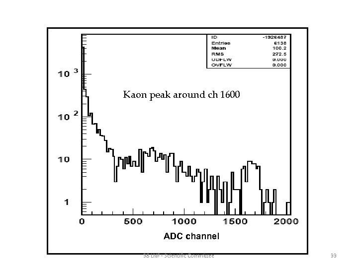 Kaon peak around ch 1600 ADC channel 38 LNF - Scientific Committee 33