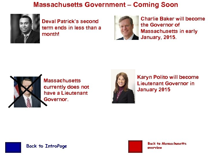 Massachusetts Government – Coming Soon Deval Patrick's second term ends in less than a