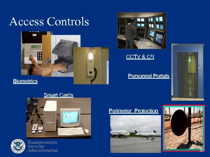 Access Controls CCTV & C 4 I Personnel Portals Biometrics Smart Cards Perimeter Protection