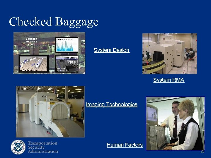 Checked Baggage System Design System RMA Imaging Technologies Human Factors 23