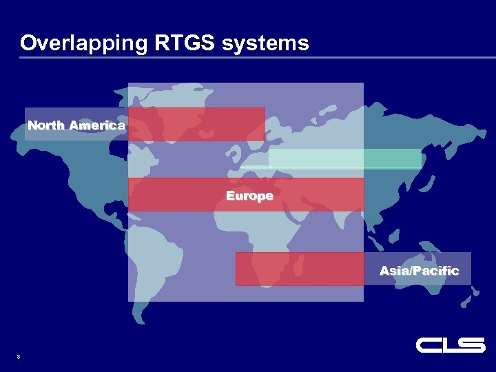 Overlapping RTGS systems North America Europe Asia/Pacific 8