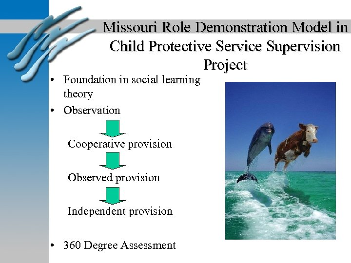 Missouri Role Demonstration Model in Child Protective Service Supervision Project • Foundation in social