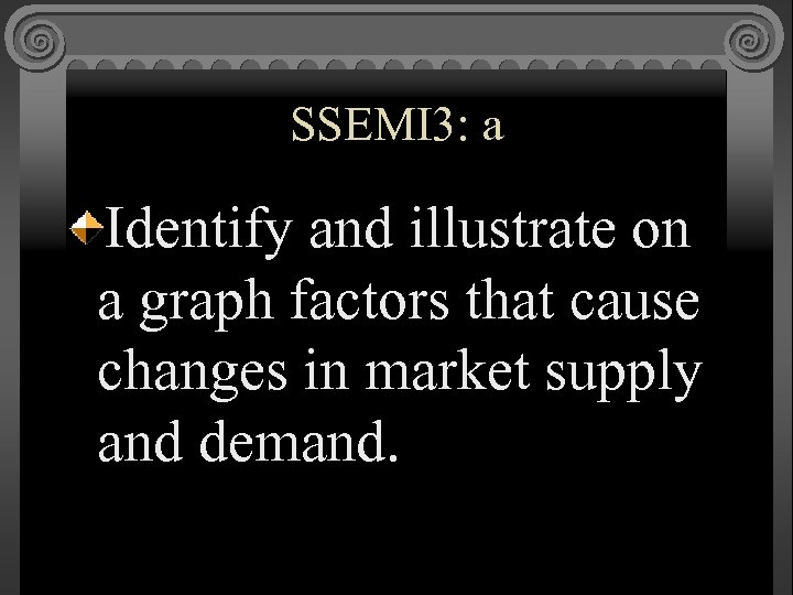 SSEMI 3: a Identify and illustrate on a graph factors that cause changes in
