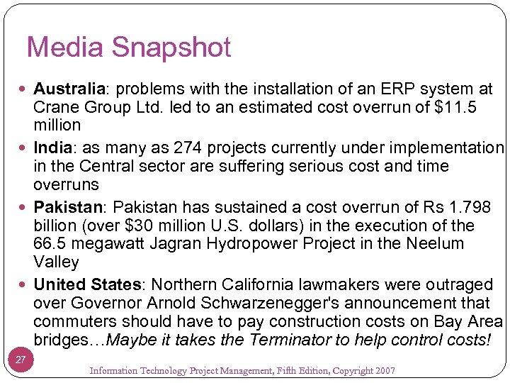 Media Snapshot Australia: problems with the installation of an ERP system at Crane Group