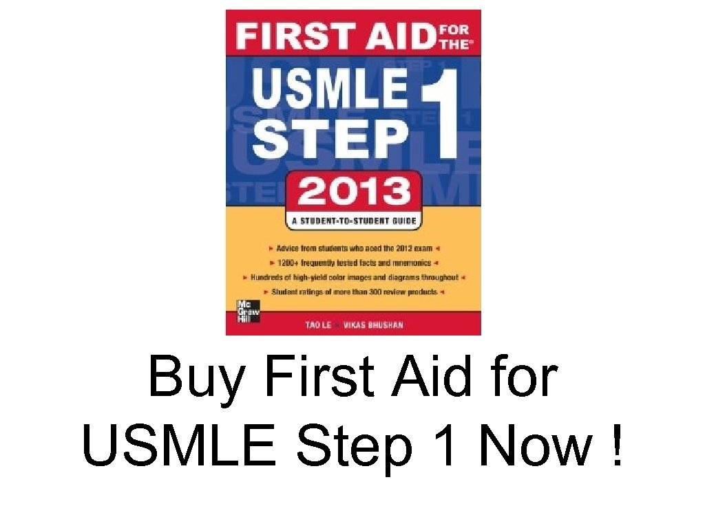 Buy First Aid for USMLE Step 1 Now !