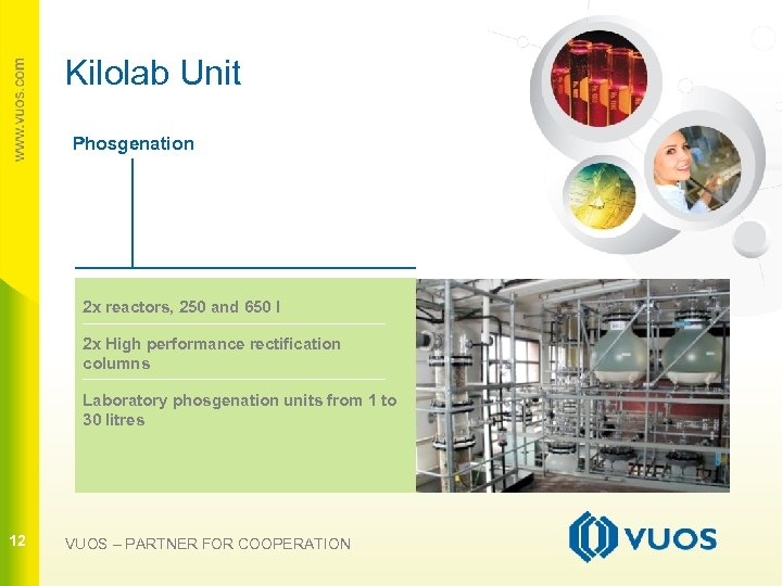 Kilolab Unit Phosgenation 2 x reactors, 250 and 650 l 12 2 x High