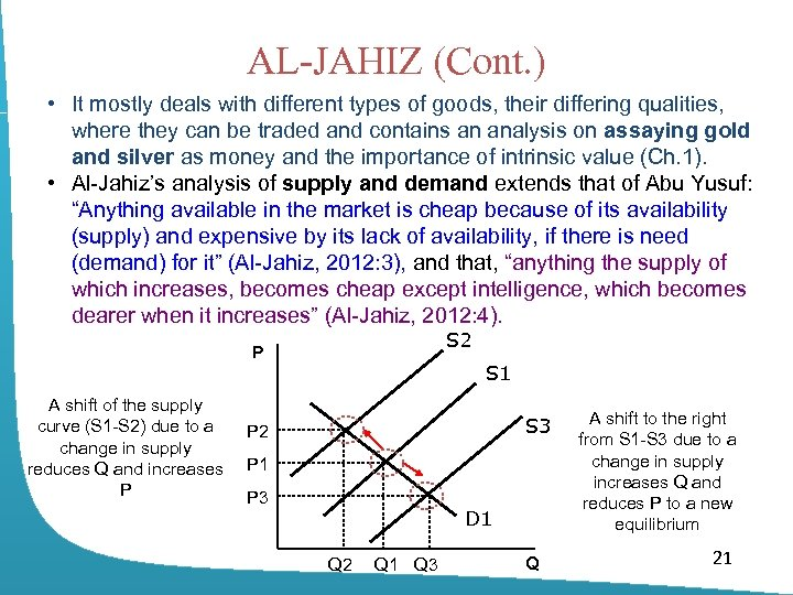 AL-JAHIZ (Cont. ) • It mostly deals with different types of goods, their differing