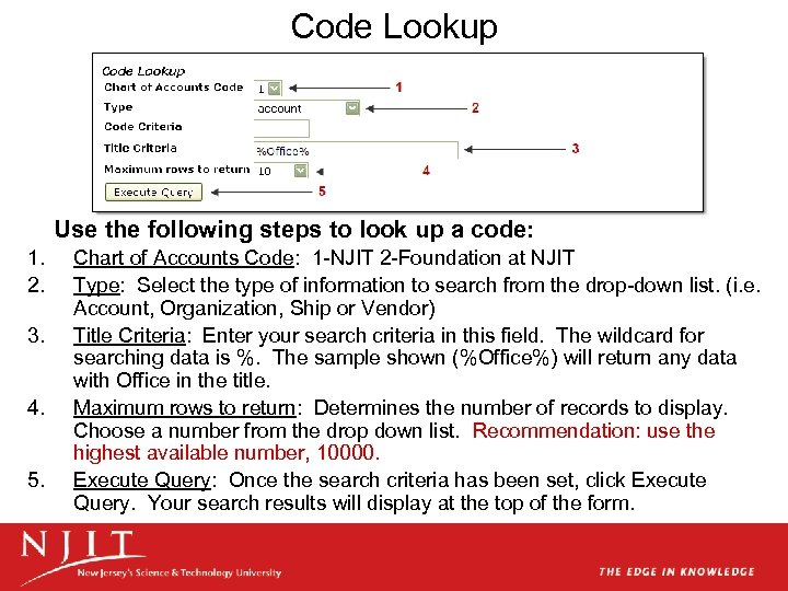 Code Lookup Use the following steps to look up a code: 1. 2. 3.