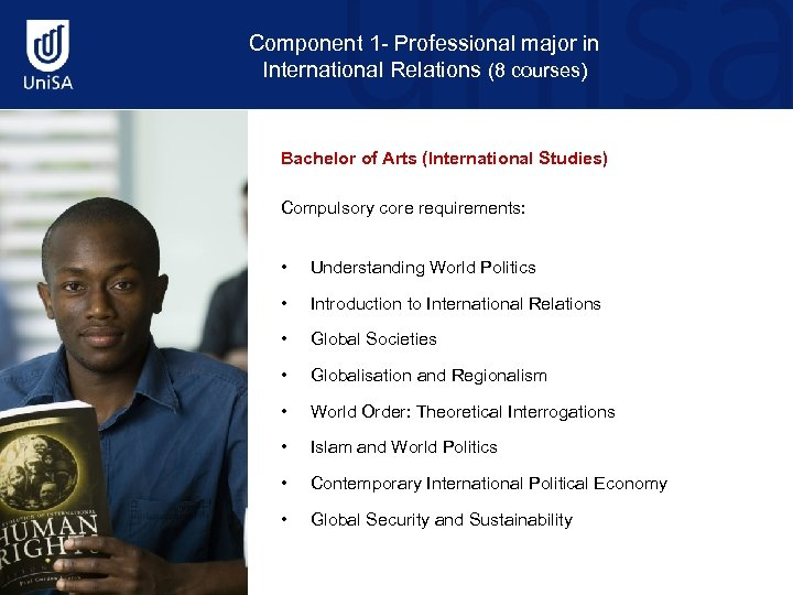 Component 1 - Professional major in International Relations (8 courses) Bachelor of Arts (International