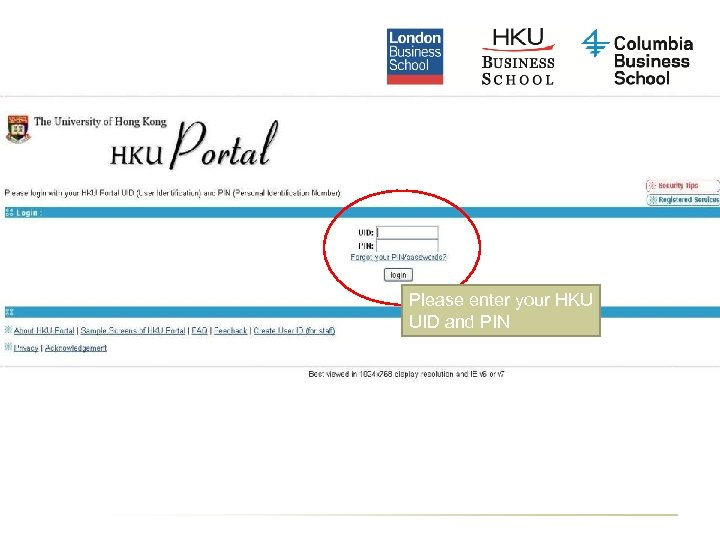 Please enter your HKU UID and PIN