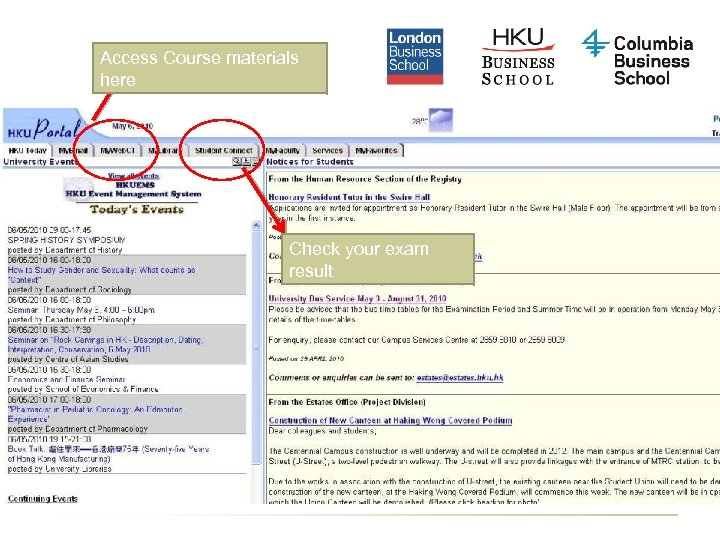 Access Course materials here Check your exam result