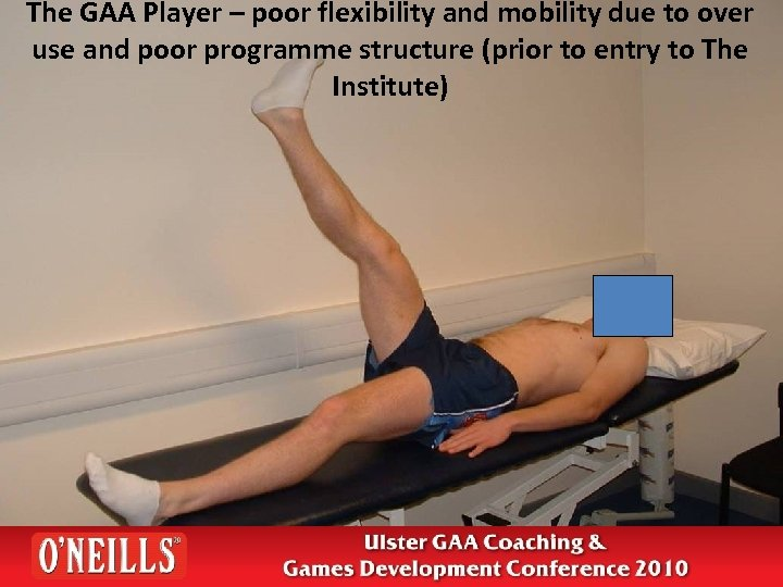 The GAA Player – poor flexibility and mobility due to over use and poor