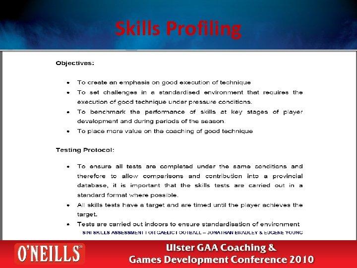 Skills Profiling