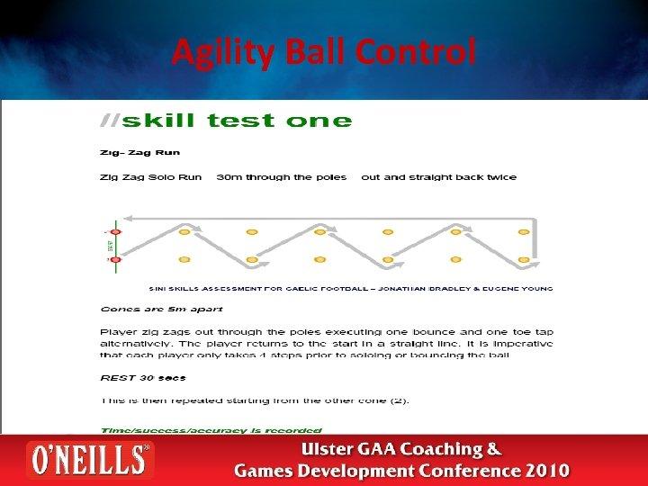 Agility Ball Control