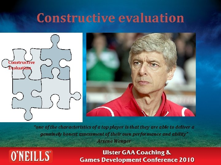 """Constructive evaluation Constructive Evaluation """"one of the characteristics of a top player is that"""