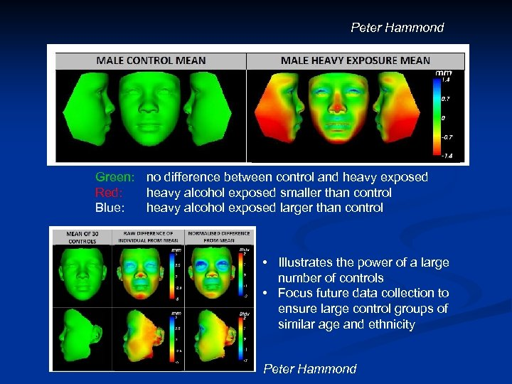 Peter Hammond Green: no difference between control and heavy exposed Red: heavy alcohol exposed
