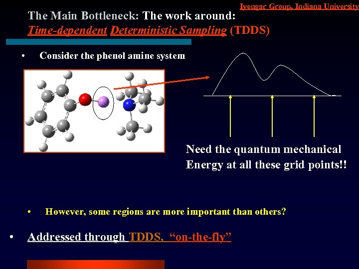 Iyengar Group, Indiana University The Main Bottleneck: The work around: Time-dependent Deterministic Sampling (TDDS)