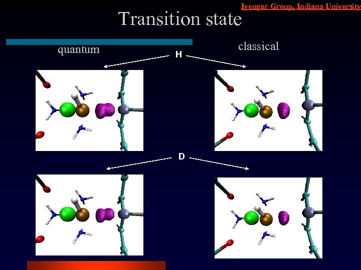 Iyengar Group, Indiana University Transition state quantum H D classical