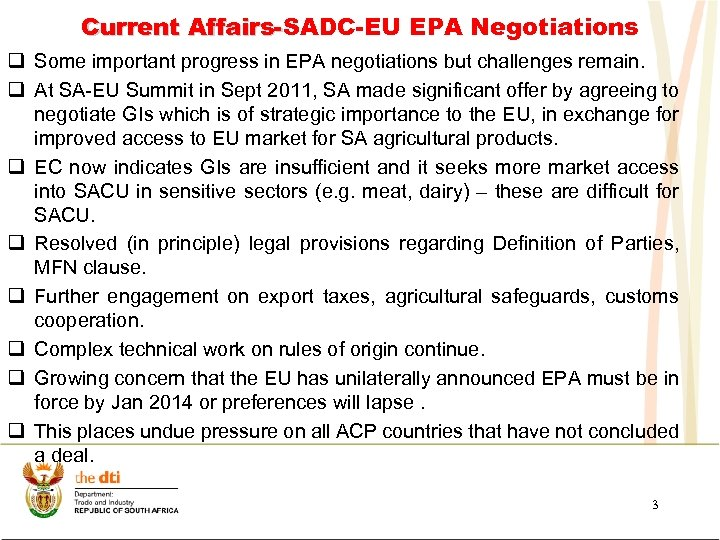 Current Affairs-SADC-EU EPA Negotiations Affairsq Some important progress in EPA negotiations but challenges remain.