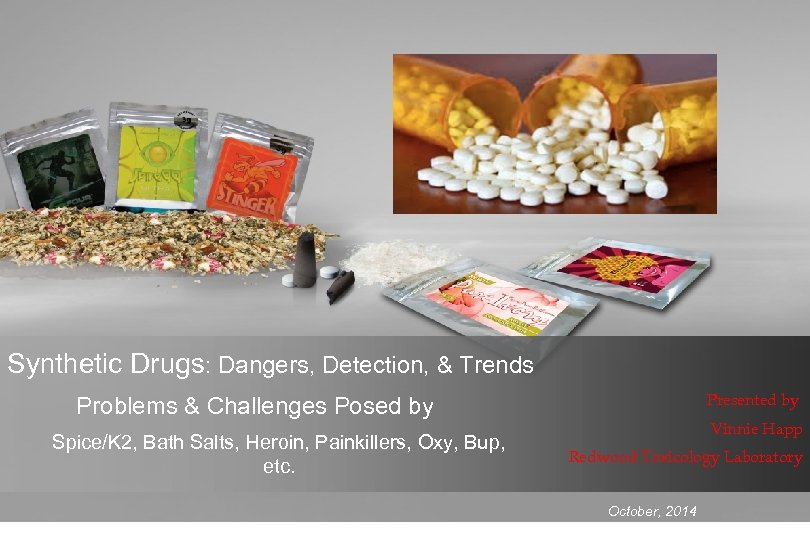 Synthetic Drugs: Dangers, Detection, & Trends Presented by Problems & Challenges Posed by Spice/K