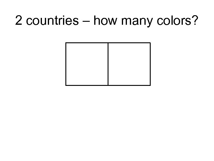 2 countries – how many colors?
