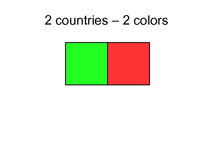 2 countries – 2 colors