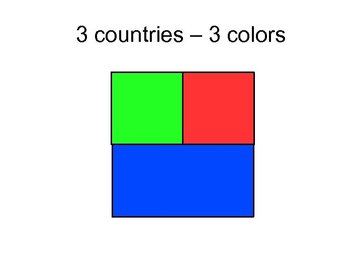 3 countries – 3 colors