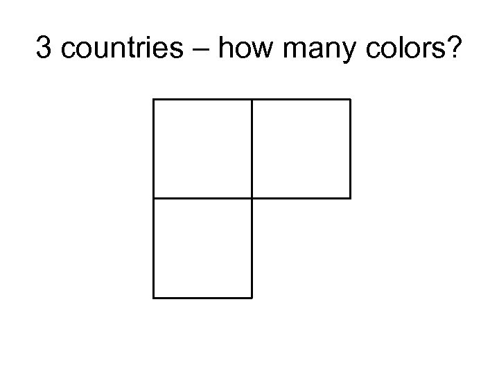 3 countries – how many colors?