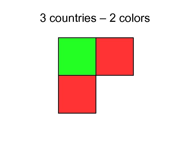 3 countries – 2 colors