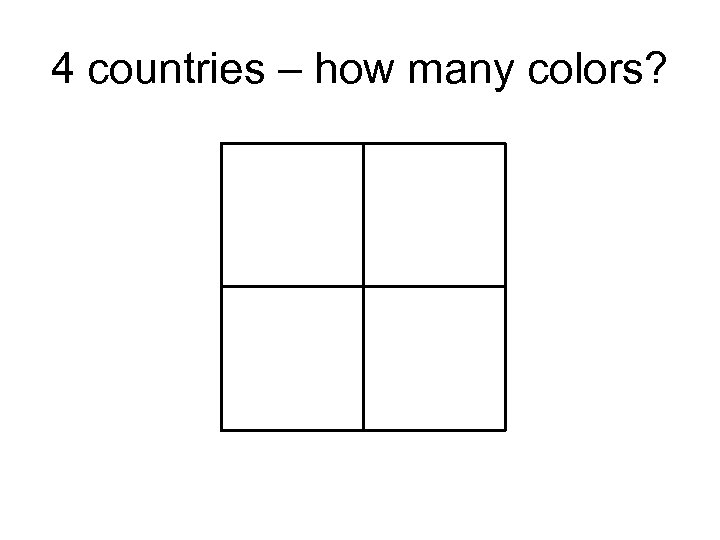 4 countries – how many colors?