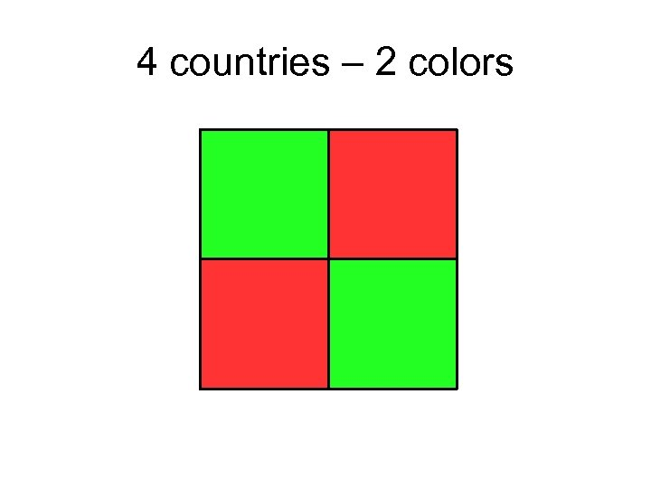 4 countries – 2 colors