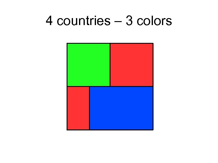 4 countries – 3 colors
