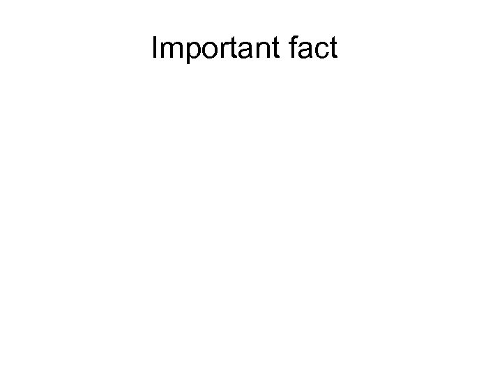 Important fact