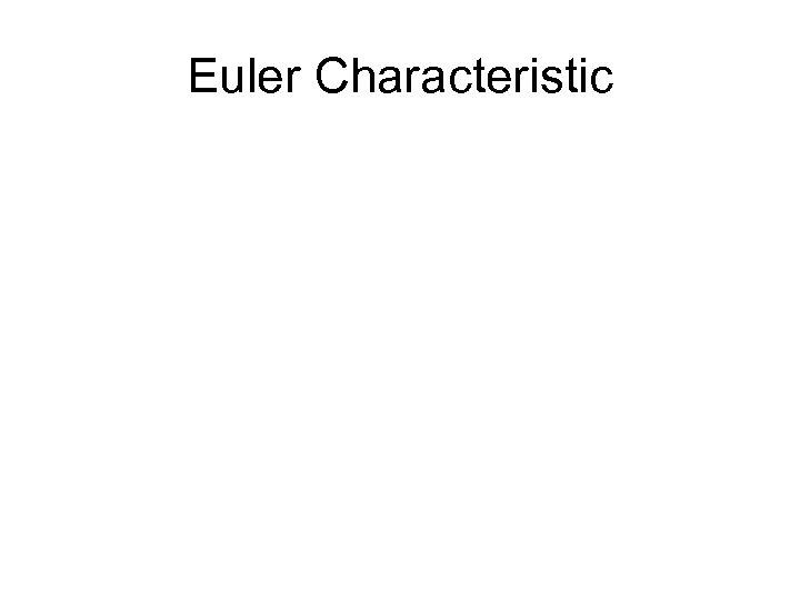 Euler Characteristic