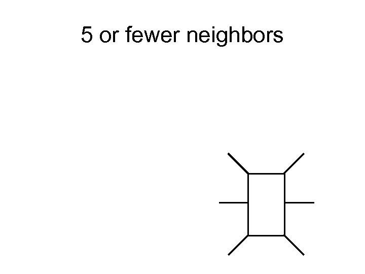 5 or fewer neighbors